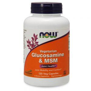 NOW FOODS GLUCOSAMINE + MSM VEG [120 CAPS]