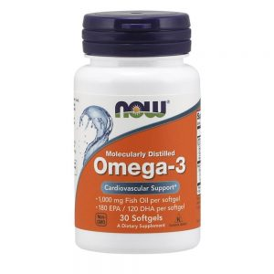 NOW FOODS OMEGA 3 1000MG [30 GELS]