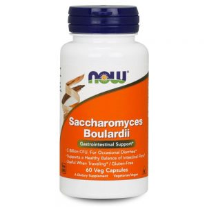 NOW FOODS SACCHAROMYCES BOULARDII [60 CAPS]
