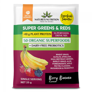 NATURES NUTRITION SUPER GREENS AND REDS [25G]